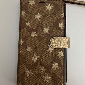 Authentic Coach Phone wallet wristlet